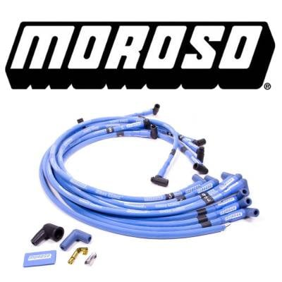 Spark Plugs and Spark Plug Wires - Spark Plug Wires - Moroso - Moroso 72416 Blue Max Spark Plug Wires Big Block Chevy HEI Under Header 90 BBC