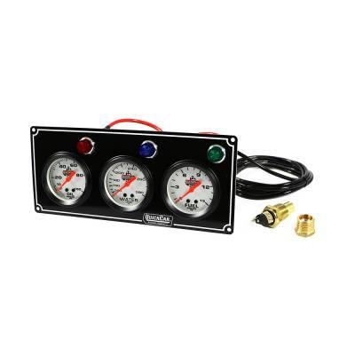 Gauges & Accessories - Gauge Panels - Quick Car - QuickCar 61-6712 3 Gauge Panel Oil & Fuel Pressure / Water Temp / Warning Lights
