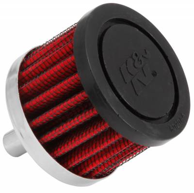 "Breathers, Overflows & Hardware - Breathers & Components - K&N Engineering - K&N 62-1000 Differential/Crank Vent Air Filter/Breather 3/8 Tube 1.5"" Tall 2"" OD"