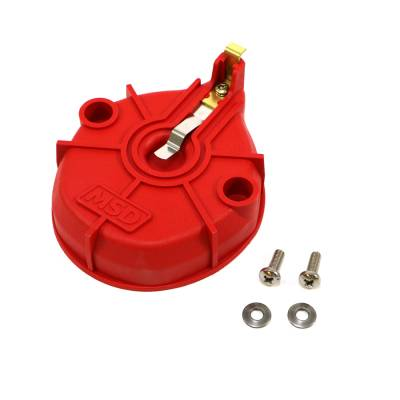 Distributors & Components - Distributor Cap & Rotor - MSD - MSD 84101 Chevy GM Style Extreme Output HEI Rotor Large Cap Distributors SBC BBC