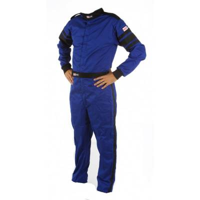 Driving Suits - Racequip Double Layer Suits - Racequip - XLarge Blue Multi-Layer 1 Piece Race Driving Fire Safety Suit SFI 5 Rated