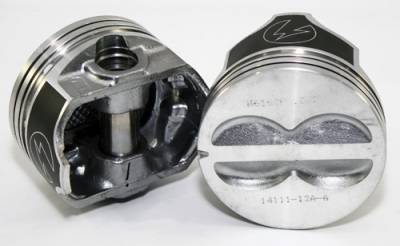 Federal Mogul - Speed Pro FMP H616CP60 Small Block Chevy 400 Flat Top Pistons 4VR 5.7 Rod +60