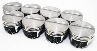 Federal Mogul - SBC Chevy 383 Speed Pro Flat Top +40 Hypereutectic Pistons 5.7 Rod Small Block