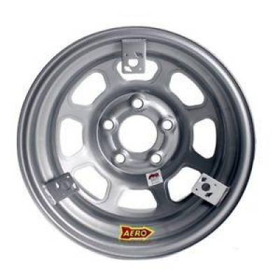 Garage Sale - Aero Race Wheels - Aero Race Wheels 52-084720T3 15x8 2 inch Offset 5 x 4.75 Silver w/ 3 Tabs for Mudcover