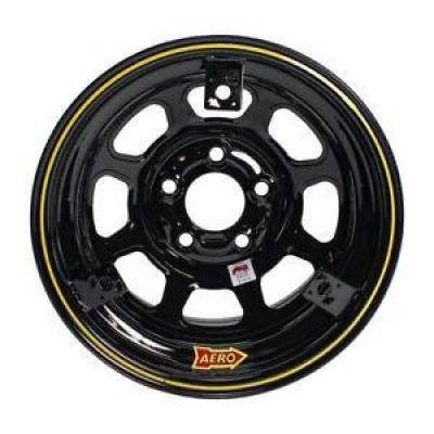 Circle Track - 15 x 8 - Aero Race Wheels - Aero Race Wheels 52-185030T3 Black15 x 8 3 inch Offset 5 x 5 w/ 3 Tabs for Mud Cover IMCA