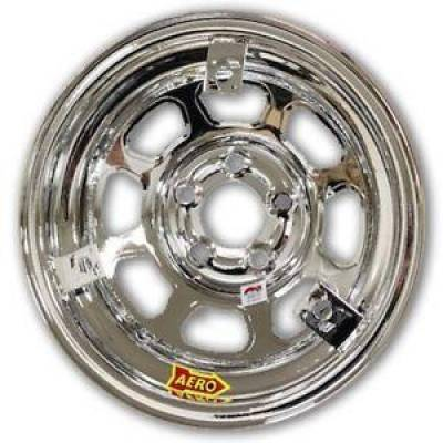 Aero Race Wheels - Aero Race Wheels 52-285030T3 Chrome 15X8  5x5 3 inch  Offset w/3 Tabs for Mud cover