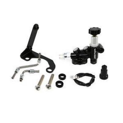 Brakes - Wilwood - Wilwood 260-13190 Aluminum/Steel Adjustable Proportioning Valve / Bracket-Lines