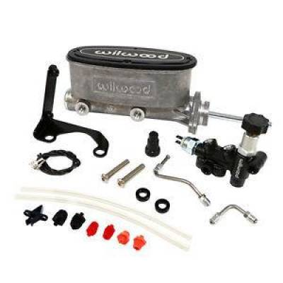"Brakes - Master Cylinders - Wilwood - Wilwood 261-13271 Natural Tandem Master Cylinder 7/8"" Bore W/ Bracket-Valve Kit"