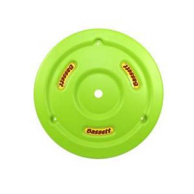 Circle Track - Wheel Covers & Rings - Bassett Wheel - Bassett 5PLG-FLOGRN Fluorescent Green Plastic Wheel Cover (Mud Plug) IMCA USRA