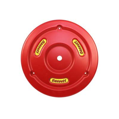 Bassett Wheel - Bassett 5PLG-RED Red Plastic Wheel Cover (Mud Plug) IMCA USRA UMP