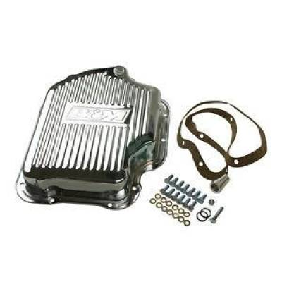 Transmission & Drivetrain - Transmission Oil Pan & Components - B & M - B&M 20289 Chrome Steel GM Turbo 400 TH400 Deep Transmission Pan +2 Quarts