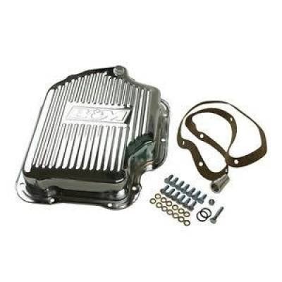 Transmission & Drivetrain - Transmission Oil Pan & Components - B & M - B&M 20289 Chrome Steel GM Turbo 400 TH400 Deep Transmission Pan +2 Quarts