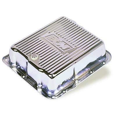 Transmission & Drivetrain - Transmission Oil Pan & Components - B & M - B&M 70289 Chrome 82-93 GM 700R4 4L60 Deep Transmission Pan +3 Quarts Extra