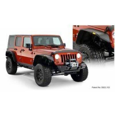 Bushwacker - Bushwacker 10923-07 Fender Flares Set of 4 2018-2019 Jeep Wrangler JL