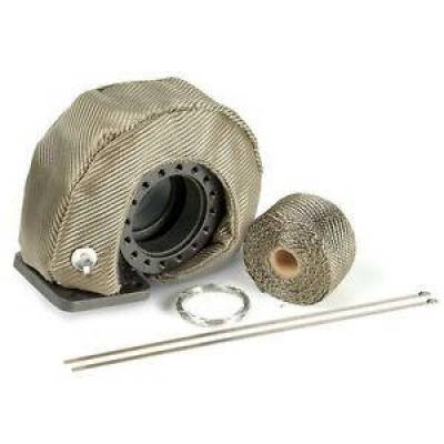 Design Engineering - DEI 010145 Titanium T4 Turbo Shield Kit Thermal Heat Shroud w/ Wrap & Ties