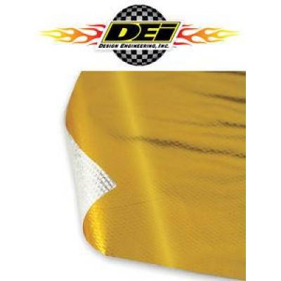 "Design Engineering - DEI 010393 Reflect A Gold Heat Barrier Shielding 24"" x 24"" Sheet Reflects Heat"