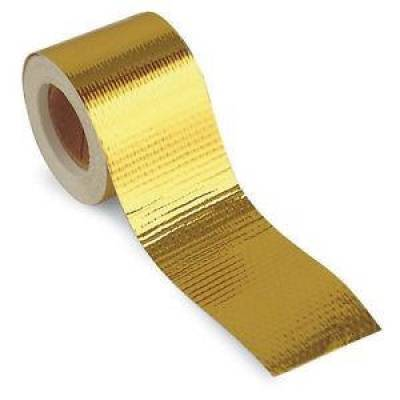 "Headers & Exhaust  - DEI Exhaust Wrap & Coating - Design Engineering - DEI 010397 Reflect A Gold Tape 2"" x 30'' Roll Heat Wrap Barrier Reflects Heat'"