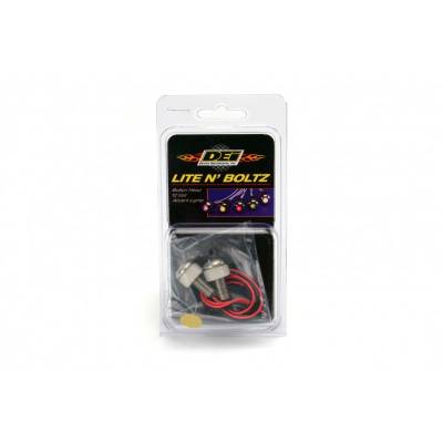Design Engineering - DEI 030305 Lite''N Boltz Lighted Button LED Head Bolts Amber 2 Pack Accent Lights'