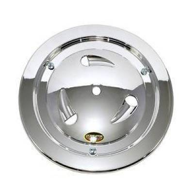 "Circle Track - Wheel Covers & Rings - Dominator Race Products - Dominator Race Products Chrome Vented Ultimate 15"" Wheel Cover Aero Bassett Real"