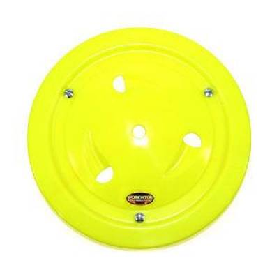 "Circle Track - Wheel Covers & Rings - Dominator Race Products - Dominator Race Products Fluorescent Yellow Vented Ultimate 15"" Wheel Cover Aero"