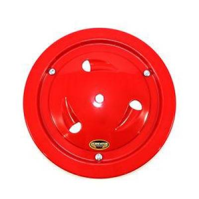 "Circle Track - Wheel Covers & Rings - Dominator Race Products - Dominator Race Products Red Vented Ultimate 15"" Wheel Cover Aero Bassett Real"