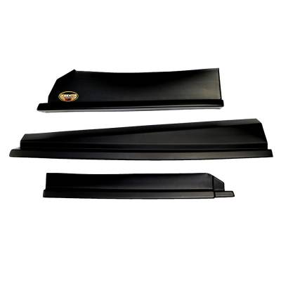 Body Components - Body Panels, Nose Pieces & Components - Dominator Race Products - Dominator Race Products Black 3 Piece Modified Aero Valance Kit Sport Mod Set