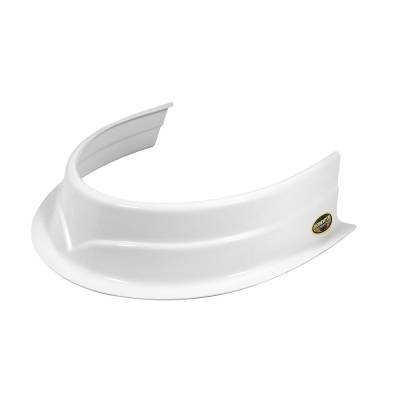 Body Components - Body Panels, Nose Pieces & Components - Dominator Race Products - Dominator Race Products DOM 500-WH Predator Hood Scoop  White  3-1/2 Inch
