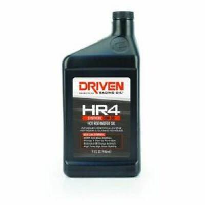 Oil, Fuel, Fluids, & Cleaners - Engine Oil - Driven Racing Oil - Joe Gibbs Driven 01506 HR4 10W-30 High Zinc Synthetic Hot Rod Oil