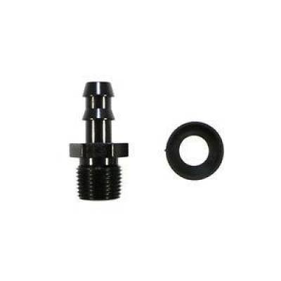 Fragola 200123-BL 3/8 MPT/6AN Push Lock Hose End Barb Black Fitting Pipe Thread