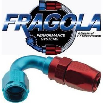 Fittings & Hoses - Fragola - Fragola 231216 16 AN Aluminum 120 Degree Socket Hose Fitting Blue IMCA USRA