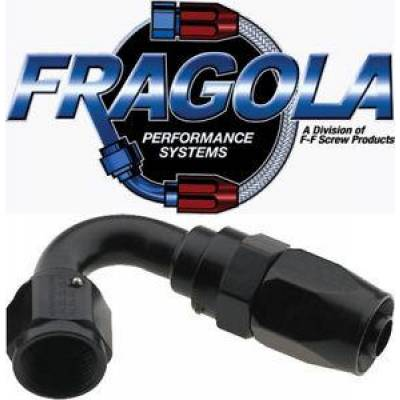 Fittings & Hoses - Fragola - Fragola 231216-BL 16 AN Aluminum 120 Degree Socket Hose Fitting Black IMCA USRA