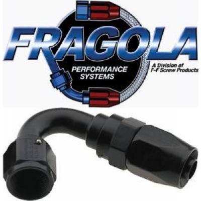 Fittings & Hoses - Fragola - Fragola 231216-BL 16 AN Aluminum 120 Degree Socket Hose Fitting Black IMCA USRA