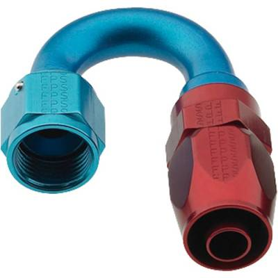 Fittings & Hoses - Fragola - Fragola 231804 4 AN Aluminum 180 Degree Socket Hose Fitting Water Fuel IMCA USRA