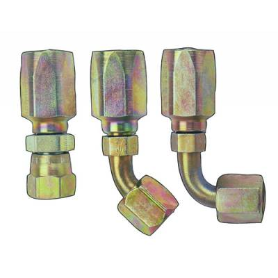 Fittings & Hoses - Fragola - Fragola 250106 6 AN Straight Hose End - Power Steering IMCA USRA NHRA