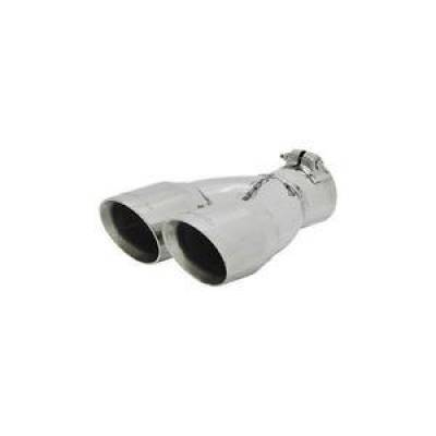 "Flowmaster - Flowmaster 15307 Polished Stainless Dual Exhaust Tip 3"" OD Fits 2.5"" Clamp-On"