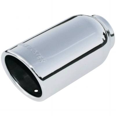 "Flowmaster - Flowmaster 15360 Polished Weld-On Exhaust Tip 3"" Rolled Angle Fits 2"" Pipe"