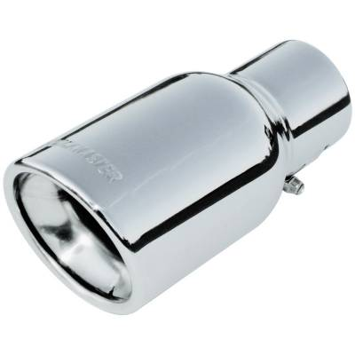 "Headers & Exhaust  - Exhaust Tips - Flowmaster - Flowmaster 15364 Polished Clamp-On Exhaust Tip 3.5"" Rolled Edge Fits 2.25"" Pipe"