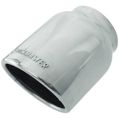 "Headers & Exhaust  - Exhaust Tips - Flowmaster - Flowmaster 15371 Polished Weld-On Exhaust Tip 4"" Rolled Angle Fits 3"" Pipe"