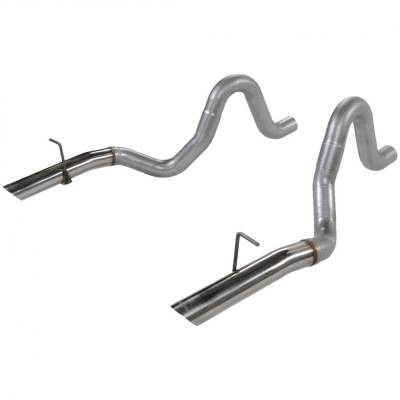 "Exhaust Systems - Cat Back Exhaust - Flowmaster - Flowmaster 15820 1987-1993 Mustang LX 5.0L 3"" Mandrel-Bent Tailpipes W/ SS Tips"