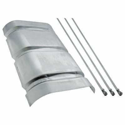 Headers & Exhaust  - Mufflers - Flowmaster - Flowmaster 51017 Aluminum Heat Shield Kit For 50 Series SUV Mufflers