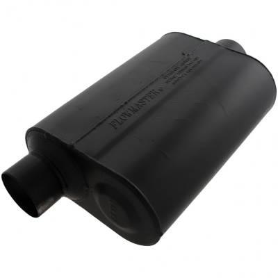 """Flowmaster - Flowmaster 953046 Super 40 Series Muffler 3"""" Offset Inlet/Center Outlet"""