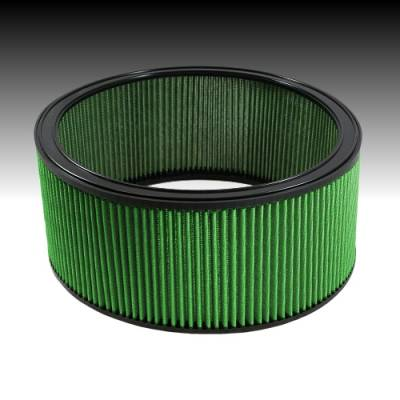"Green Filter USA - Green Filter USA 2160 Universal Round High Flow Air Cleaner 14"" x 6"" Reusable"