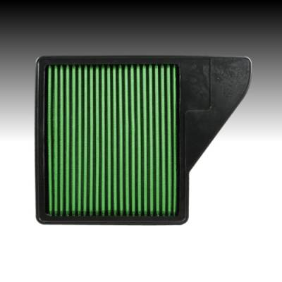Green Filter USA - Green Filter USA 7075 High Air Flow Reusable Element Ford Mustang 10-14 V6 V8