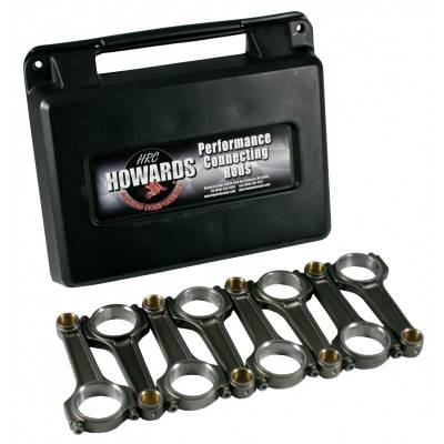 "Engine Components & Valvetrain - Connecting Rods - Howards Cams - Howards Cams PPF6000 SBC Chevy 6"" Powder Dense Forged Connecting Rods ARP2000"