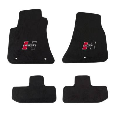 Interior Trim & Accessories - Hurst - Hurst 6370010 Red Logo Front & Rear Floor Mat Kit for 2008-2018 Dodge Challenger