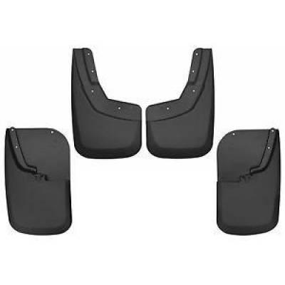 Husky 56686 Mud Guards Front & Rear Set Black 2011-2016 Ford Super Duty
