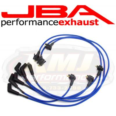 Spark Plugs and Spark Plug Wires - Spark Plug Wires - JBA Exhaust - JBA W06189 1999-2000 Ford Mustang 3.8L BLUE 8mm Spark Plug Wires/ Powercables