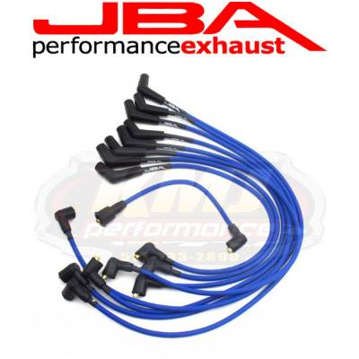 Spark Plugs and Spark Plug Wires - Spark Plug Wires - JBA Exhaust - JBA W06509 1965-73 Ford Mustang/Cougar SBF BLUE 8mm Spark Plug Wires/Powercables