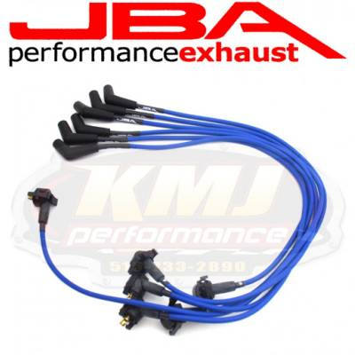 Spark Plugs and Spark Plug Wires - Spark Plug Wires - JBA Exhaust - JBA W06729 1997-2000 Ford Truck 4.2L BLUE 8mm Spark Plug Wires/ Powercables