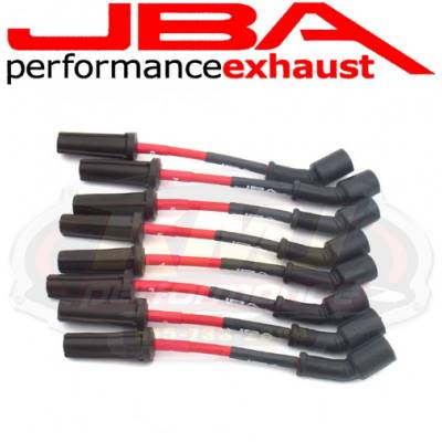 Spark Plugs and Spark Plug Wires - Spark Plug Wires - JBA Exhaust - JBA W0812 2010-2014 Chevy Camaro 6.2L LS3 Red 8mm Spark Plug Wires/ Powercables